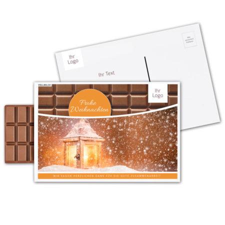 Schokoladen-Postkarte personalisierbar mit Logo oder Design