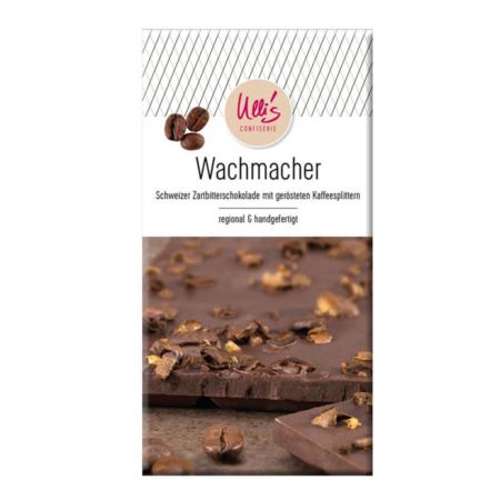 Schweizer Zartbitterschokolade mit gerösteten Kaffeesplittern