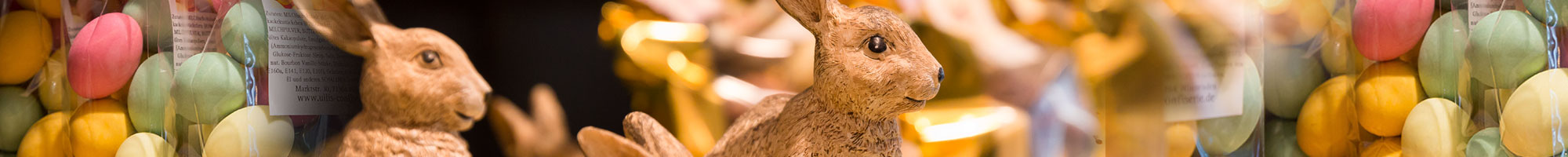 Osterschokolade: Schokohasen, Krokanteier, bunte Eier, Pralineneier und vieles mehr