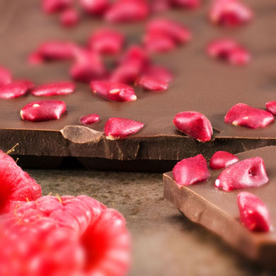 Himbeerschokolade Vollmilch, handgefertigt