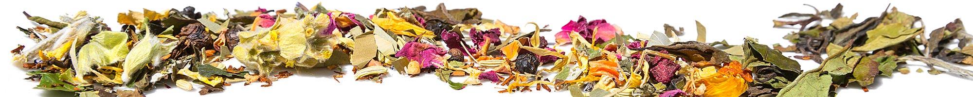 Tee online kaufen bei Ulli´s Confiserie: Schwarzer Tee, Früchtetee, Grüner Tee, Kräutertee, Rotbuschtee