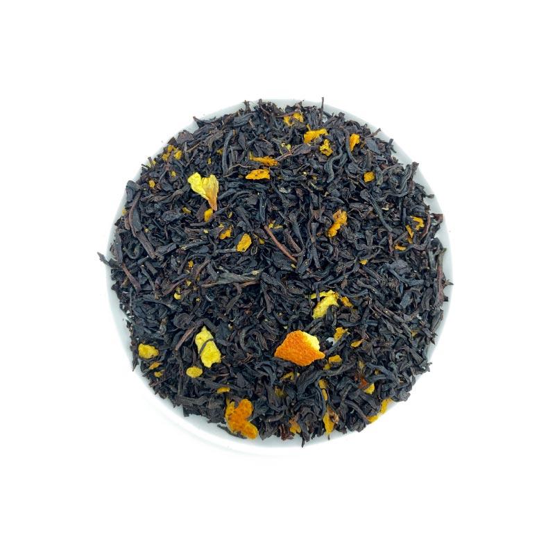 Schwarzer Tee Sweet Orange mit Schale