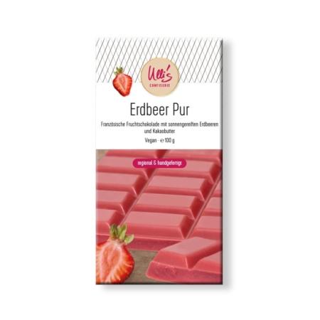 Fruchtschokolade Erdbeer, vegan