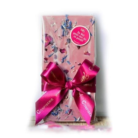 Ruby Blütentraum: Ruby Schokolade mit Blüten