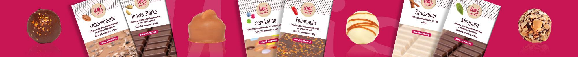 Schokolade Probierpakete von Ulli´s Confiserie