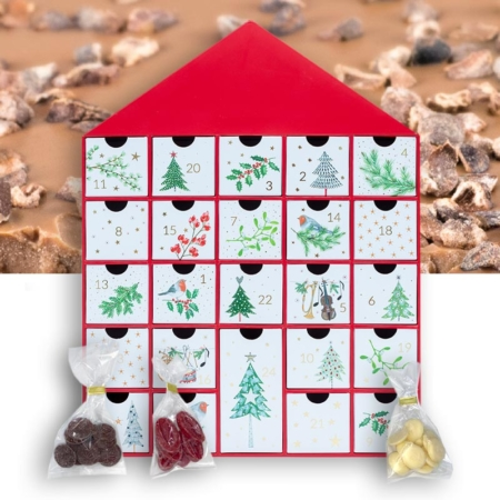 Adventskalender mit handgefertigter Schokolade