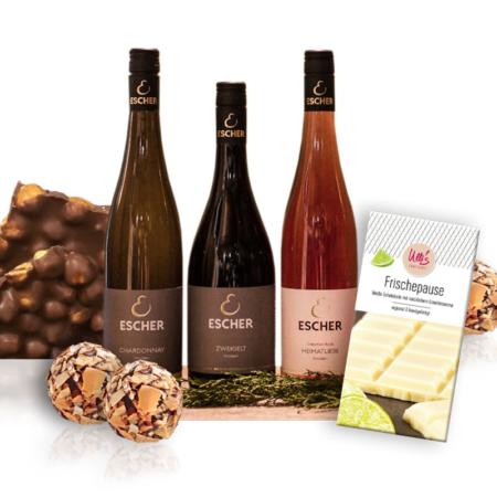 Wein und Schokolade Tasting-Paket