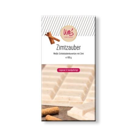 Weiße Schokolade mit Zimt