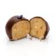 Handgemachtes Osterei aus Marzipan, umhüllt von Zartbitterschokolade