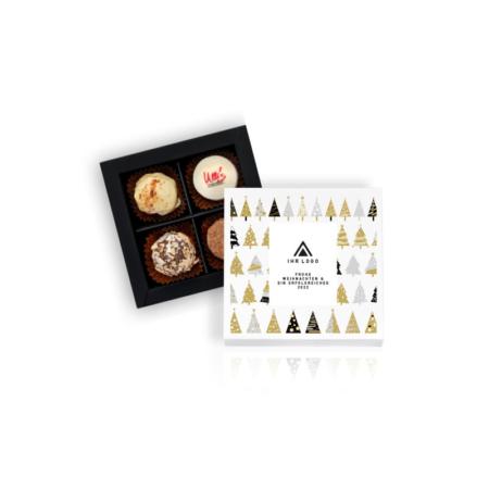 Personalisierte Pralinenschachtel mit 4 handgemachten Pralinen aus Winnenden